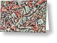 Leaves Abstraction II Greeting Card