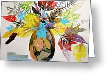 Leaves And Fronds Greeting Card
