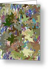Leaves And Grass Abstract Greeting Card