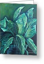 Leaves In A Vase Greeting Card by Ellen Howell