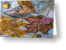 Leaves In Glass Greeting Card