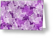 Leaves In Radiant Orchid Greeting Card