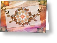 Leaves Rosette 2 Greeting Card by Bedros Awak