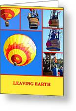 Leaving Earth Greeting Card