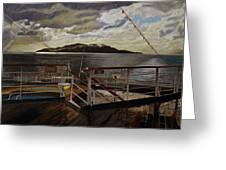 Leaving Queen Charlotte Sound Greeting Card