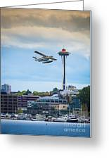 Leaving Seattle Greeting Card