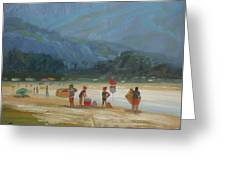 Leaving The Beach Greeting Card