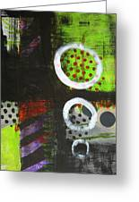 Leaving The Dark Abstract  Greeting Card