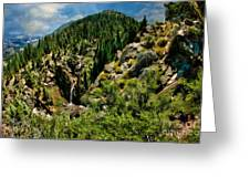 Leavitt Falls From Afar Greeting Card