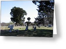 Lebanon Cemetery Oklahoma Greeting Card