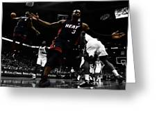 Lebron And D Wade Showtime Greeting Card