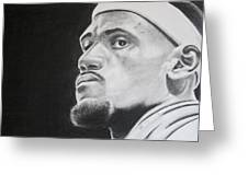 Lebron Greeting Card by Don Medina