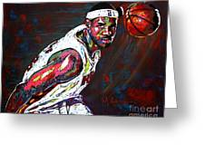 Lebron James 2 Greeting Card