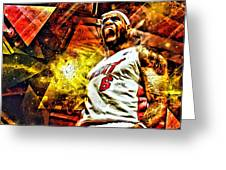 Lebron James Art Poster Greeting Card by Florian Rodarte