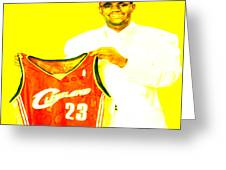 Lebron James Going Home Greeting Card