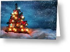 Led Christmas Lights Greeting Card