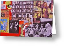 Led Zeppelin  Collage Number Two Greeting Card