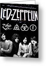 Led Zeppelin Greeting Card by FHT Designs