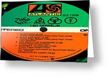 Led Zeppelin Iv Side 1 Greeting Card