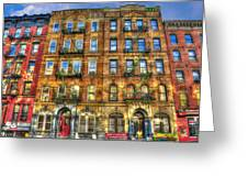 Led Zeppelin Physical Graffiti Building In Color Greeting Card