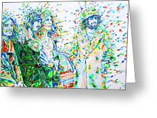 Led Zeppelin - Watercolor Portrait.2 Greeting Card