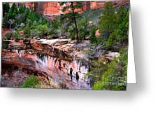Ledge At Emerald Pools In Zion National Park Greeting Card