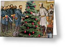 Lee And Grant At Appomattox Greeting Card