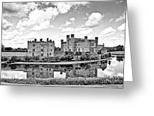 Leeds Castle Black And White Greeting Card
