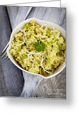 Leek Risotto Greeting Card by Mythja  Photography