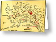 Lees Map Of The Alaskan Gold Fields 1897 Greeting Card