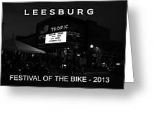 Leesburg Bikefest 2013 Poster Work One Greeting Card