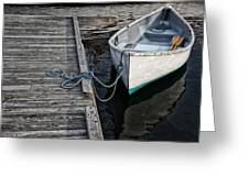Left At The Dock Greeting Card