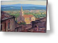 L'eglise Sur La Colline Greeting Card
