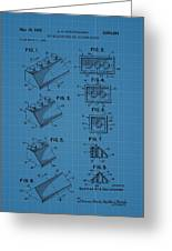 Lego Building Blocks Blueprint Patent Greeting Card