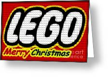 Lego Merry Christmas  Greeting Card by Scott Allison