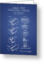 Lego Toy Building Brick Patent From 1962 Blueprint Art