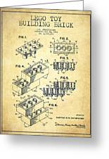 Lego Toy Building Brick Patent - Vintage Greeting Card