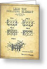 Lego Toy Building Element Patent - Vintage Greeting Card by Aged Pixel