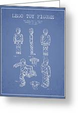Lego Toy Figure Patent - Light Blue Greeting Card