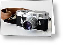 Leica M3 With Leather Strap Greeting Card