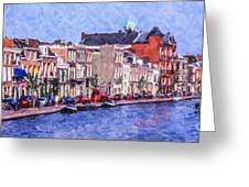 Leiden Canal Greeting Card