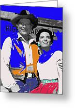 Leif Erickson Linda Cristal The High Chaparral Set Publicity Photo Old Tucson Arizona C. 1967-2012 Greeting Card