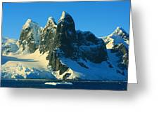Lemaire Channel Antarctica Greeting Card