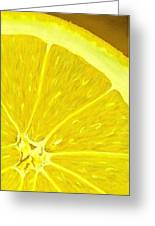Lemon Greeting Card by Anastasiya Malakhova