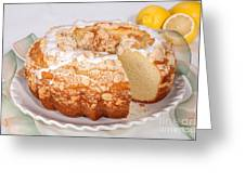 Lemon Bundtcake With Wedge Cut Out Greeting Card