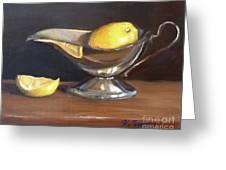 Lemon In Saucer Greeting Card