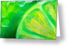 Lemon Lime Greeting Card by Debi Starr