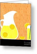 Lemonade And Glass Orange Greeting Card