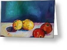 Lemons And Apples Greeting Card