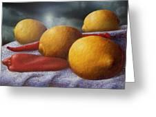 Lemons And Chilis Greeting Card